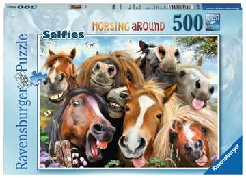 Selfies No.1, Horsing Around, 500pc Puzzles;Adult Puzzles - image 1 - Ravensburger