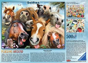 Selfies No.1, Horsing Around, 500pc Puzzles;Adult Puzzles - image 2 - Ravensburger