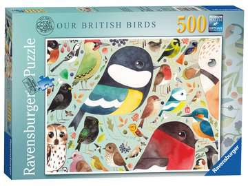 Matt Sewell´s, Our British Birds, 500pc Puzzles;Adult Puzzles - image 1 - Ravensburger