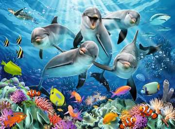 Delfine im Korallenriff Puzzle;Erwachsenenpuzzle - Bild 2 - Ravensburger