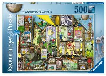 COLIN THOMPSON - TOMORROW S WORLD 500EL Puzzle;Puzzle dla dzieci - Zdjęcie 1 - Ravensburger