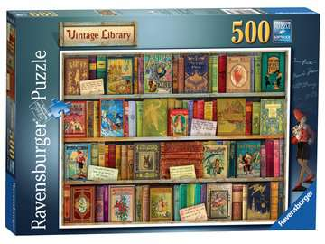 Vintage Library, 500pc Puzzles;Adult Puzzles - image 1 - Ravensburger