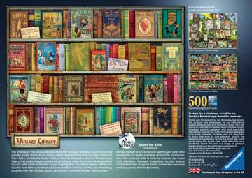 Vintage Library, 500pc Puzzles;Adult Puzzles - image 3 - Ravensburger
