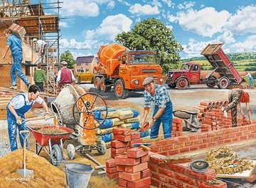 Happy Days at Work, The Builder, 500pc Puzzles;Adult Puzzles - image 2 - Ravensburger
