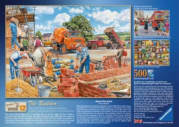 Happy Days at Work, The Builder, 500pc Puzzles;Adult Puzzles - image 3 - Ravensburger
