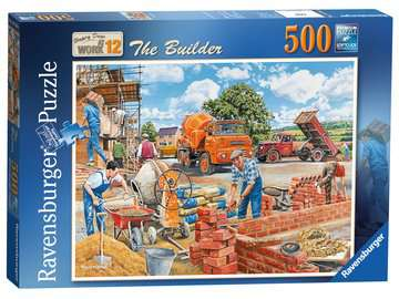 Happy Days at Work, The Builder, 500pc Puzzles;Adult Puzzles - image 4 - Ravensburger
