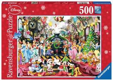 Puzzle 500 p - Le train de Noël Disney Puzzle;Puzzles adultes - Image 1 - Ravensburger
