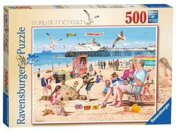 A Day at the Beach, 500pc Puzzles;Adult Puzzles - image 1 - Ravensburger