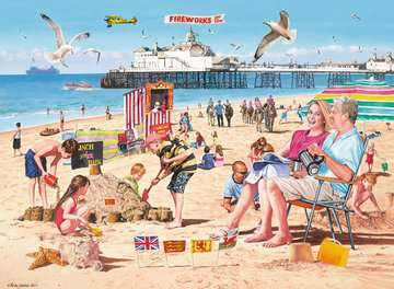 A Day at the Beach, 500pc Puzzles;Adult Puzzles - image 2 - Ravensburger