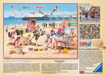 A Day at the Beach, 500pc Puzzles;Adult Puzzles - image 3 - Ravensburger