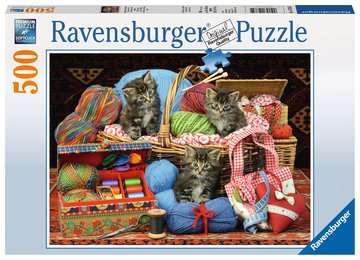 SŁODKIE KOTY W KOSZU  500EL Puzzle;Puzzle dla dzieci - Zdjęcie 1 - Ravensburger