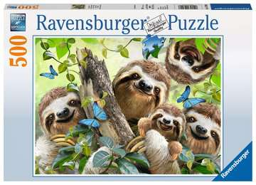 Sloth Selfie, 500pc Puslespil;Puslespil for voksne - Billede 1 - Ravensburger