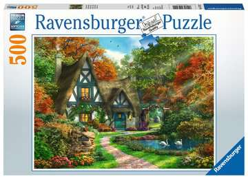 Cottage in de herfst Puzzels;Puzzels voor volwassenen - image 1 - Ravensburger