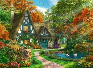 14792 Erwachsenenpuzzle Cottage im Herbst von Ravensburger 2