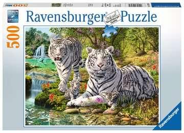 Witte roofkatten Puzzels;Puzzels voor volwassenen - image 1 - Ravensburger