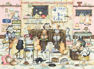 Crazy Cats Vintage - Kitty s Cakes, 500pc Puzzles;Adult Puzzles - image 2 - Ravensburger