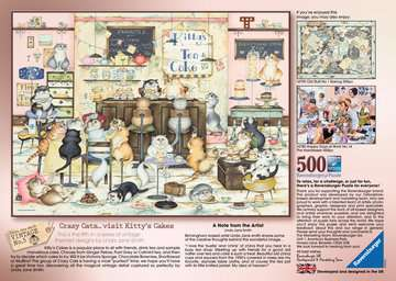 Crazy Cats Vintage - Kitty s Cakes, 500pc Puzzles;Adult Puzzles - image 3 - Ravensburger