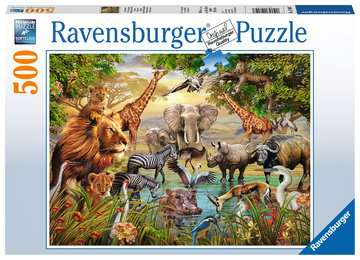 Majestic Watering Hole Jigsaw Puzzles;Adult Puzzles - image 1 - Ravensburger