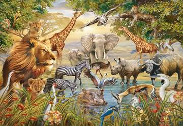 Majestic Watering Hole Jigsaw Puzzles;Adult Puzzles - image 2 - Ravensburger