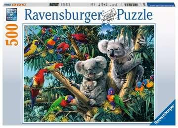 Puzzle 500 p - Koalas dans l arbre Puzzle;Puzzle adulte - Image 1 - Ravensburger