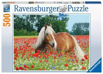 Paard tussen de klaprozen Puzzels;Puzzels voor volwassenen - image 1 - Ravensburger