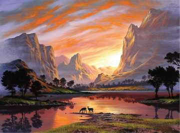 Tranquil Sunset Jigsaw Puzzles;Adult Puzzles - image 2 - Ravensburger