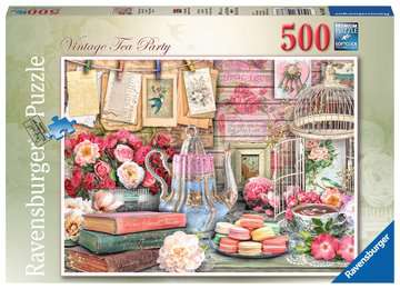 Vintage Tea Party, 500pc Puzzles;Adult Puzzles - image 1 - Ravensburger