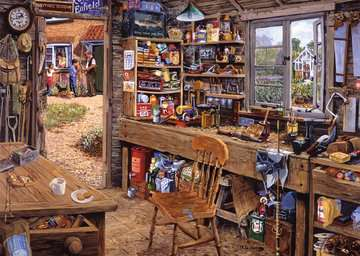 Dad s Shed Jigsaw Puzzles;Adult Puzzles - image 2 - Ravensburger