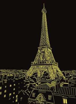 Puzzle 500 p Star Line - Tour Eiffel scintillante Puzzle;Puzzle adulte - Image 4 - Ravensburger