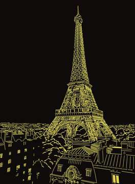 Funkelnder Eiffelturm Puzzle;Erwachsenenpuzzle - Bild 4 - Ravensburger