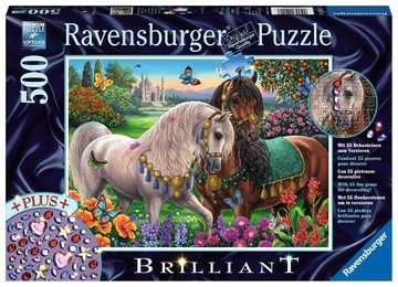 Glitzerndes Pferdepaar Puzzle;Erwachsenenpuzzle - Bild 1 - Ravensburger