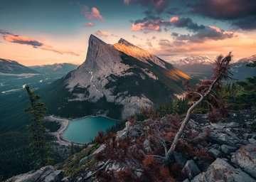 15011 Erwachsenenpuzzle Abends in den Rocky Mountains von Ravensburger 2
