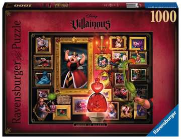 Villainous:Queen of Hearts  Ravensburger Puzzle  1000 pz - Disney Puzzle;Puzzle da Adulti - immagine 1 - Ravensburger