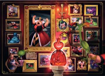 Villainous:Queen of Hearts  Ravensburger Puzzle  1000 pz - Disney Puzzle;Puzzle da Adulti - immagine 2 - Ravensburger