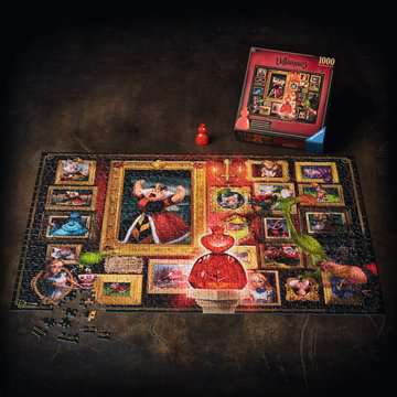 Villainous:Queen of Hearts  Ravensburger Puzzle  1000 pz - Disney Puzzle;Puzzle da Adulti - immagine 6 - Ravensburger