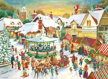 Christmas Collection No.1, Christmas Market & Santa s Christmas Supper 2x500pc Puzzles;Adult Puzzles - image 2 - Ravensburger