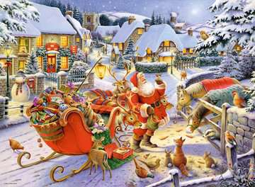 Christmas Collection No.1, Christmas Market & Santa s Christmas Supper 2x500pc Puzzles;Adult Puzzles - image 3 - Ravensburger