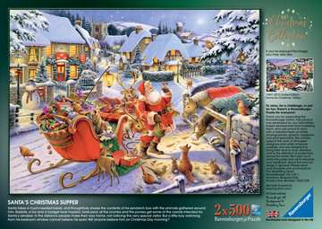 Christmas Collection No.1, Christmas Market & Santa s Christmas Supper 2x500pc Puzzles;Adult Puzzles - image 4 - Ravensburger