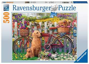 Cute Dogs in the Garden, 500pc Puzzles;Adult Puzzles - image 1 - Ravensburger