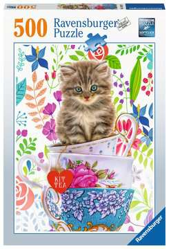 Teacup Kitty, 500pc Puzzles;Adult Puzzles - image 1 - Ravensburger