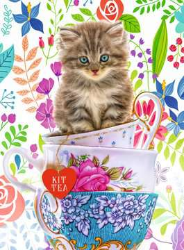 Teacup Kitty, 500pc Puzzles;Adult Puzzles - image 2 - Ravensburger