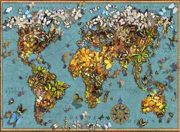 Puzzle 500 p - Mappemonde de papillons Puzzle;Puzzle adulte - Image 2 - Ravensburger