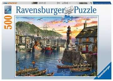15045 Erwachsenenpuzzle Morgens am Hafen von Ravensburger 1