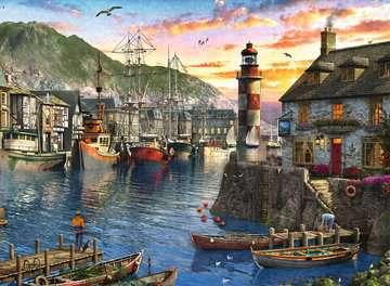 15045 Erwachsenenpuzzle Morgens am Hafen von Ravensburger 2