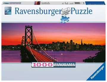 San Francisco, Oakland Bay Bridge bei Nacht Puzzle;Erwachsenenpuzzle - Bild 1 - Ravensburger