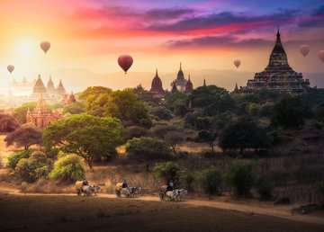 BALONY NAD MYANMAR 1000EL Puzzle;Puzzle dla dorosłych - Zdjęcie 2 - Ravensburger
