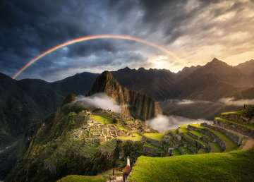 Rainbow over Machu Picchu, Peru, 1000pc Puzzles;Adult Puzzles - image 2 - Ravensburger