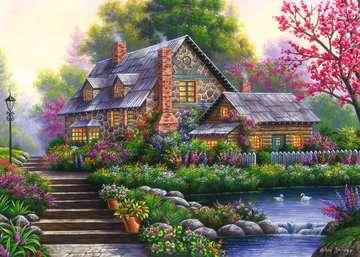 15184 Erwachsenenpuzzle Romantisches Cottage von Ravensburger 2