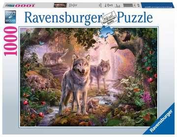 Wolvenfamilie in de zomer Puzzels;Puzzels voor volwassenen - image 1 - Ravensburger
