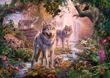 Wolfsfamilie im Sommer Puslespil;Puslespil for voksne - Billede 2 - Ravensburger